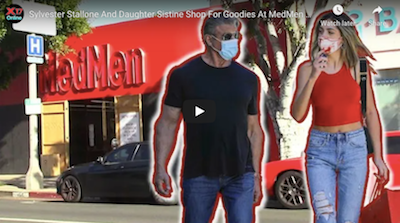 Sylvester Stallone And Daughter Sistine Shop For Goodies At MedMen Cannabis Dispensary
