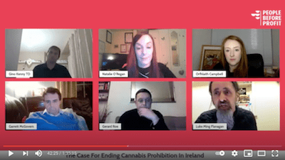 February 2 2021: The Case For Ending Cannabis Prohibition in Ireland