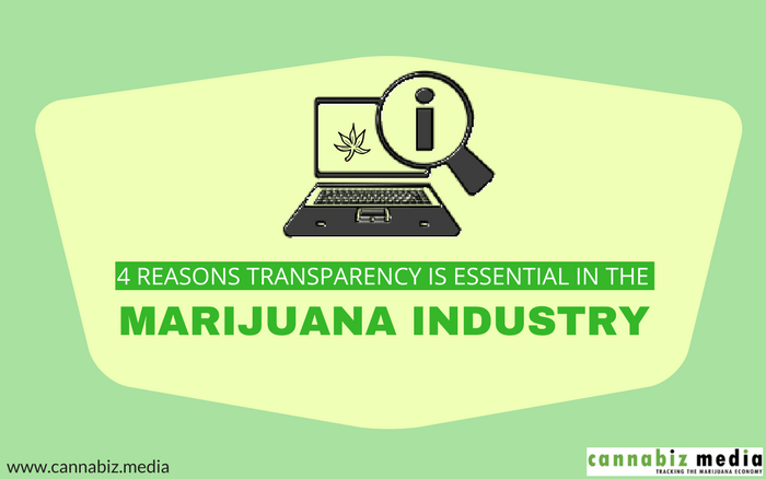 4 Reasons Transparency is Essential in the Marijuana Industry