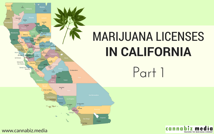 Marijuana Licenses in California – Part 1: Overview