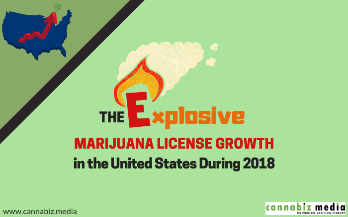 The Explosive Marijuana License Growth in the United States During 2018