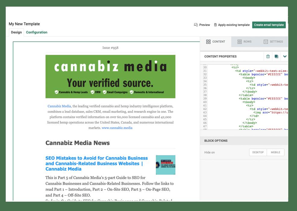 Import Email Templates into Cannabiz Media