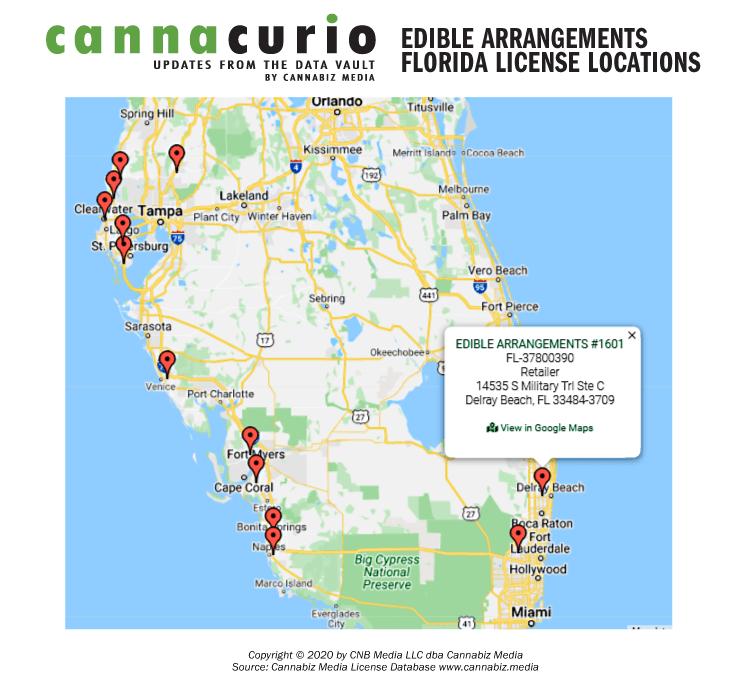 Edible Arrangements Florida License Locations