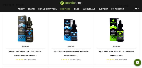 Screenshot 2019 07 17 Products Archive Ananda Hemp - Ananda Hemp