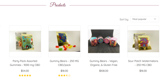 Screenshot 2019 08 14 Our handcrafted CBD infused candy is made with Love  - Heavenly Candy