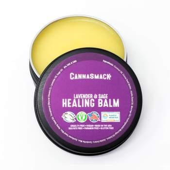 CannaSmack lavender and sage vegan hemp healing balm - cruelty-free, made in the usa, plastic negative
