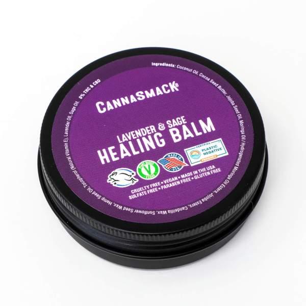 cannasmack lavender and sage hemp vegan healing balm