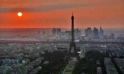 Paris skyline featuring the Eiffel Tower