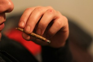 smoking weed