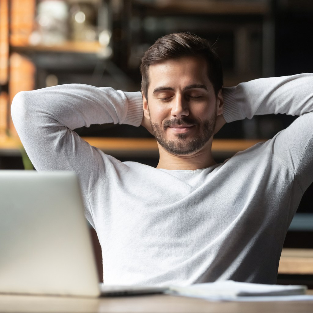 stress free office man