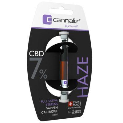 """Cannaliz """"HAZE"""" Vape Pen Cartidge 0.8 [ml] 7% CBD"""