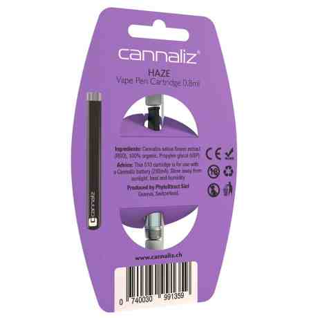 Cannaliz E-Cigarette HAZE back