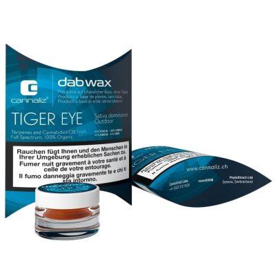 Cannaliz Dab Wax 25% CBD Tiger Eye