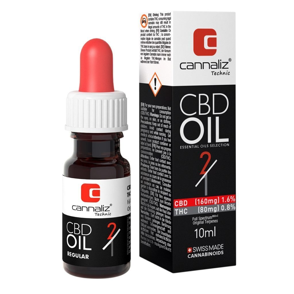 Cannaliz Huile CBD : 2/1 CBD/THC Ratio