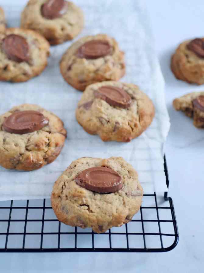 Cookies noix et chocolat au lait - zoom