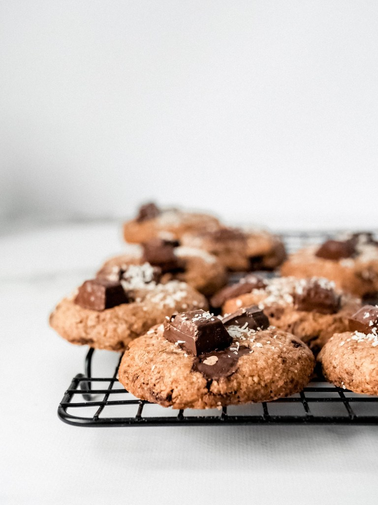 Cookies choco coco sur grille
