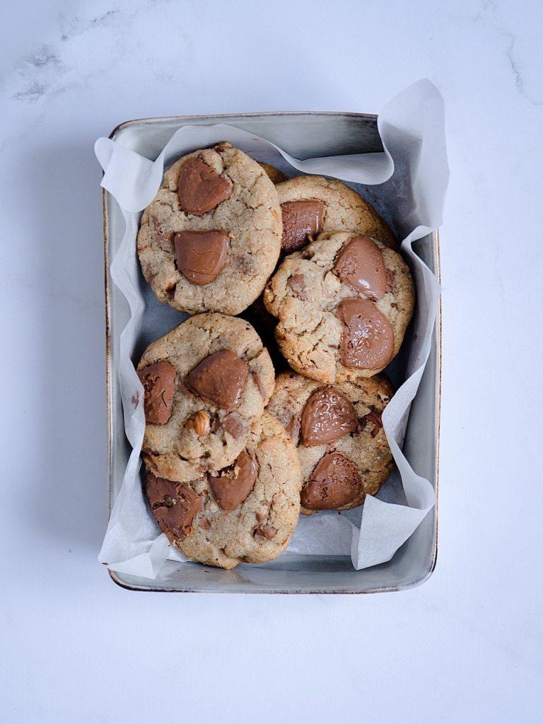 Cookies beurre noisette et chocolat au lait