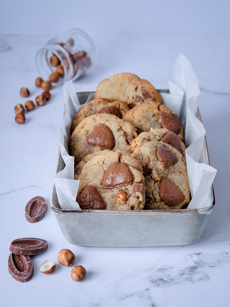 Cookies triple noisettes et chocolat au lait