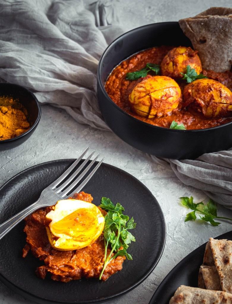 Egg masala, curry indien aux œufs