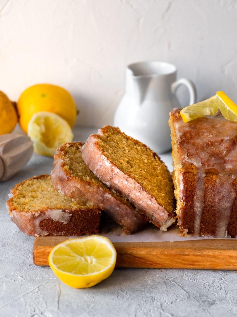 Cake tranché citron huile d'olive