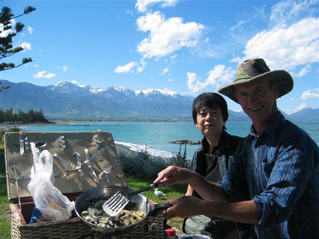 Kaikoura Seafood lunch.