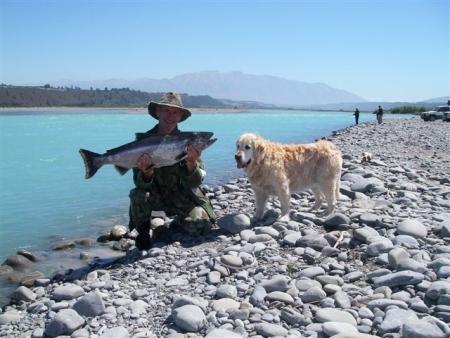 Salmon fishing near Christchurch