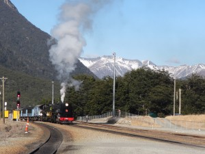 Tranz Alpine Train tour at Arthurs Pass Railway Station