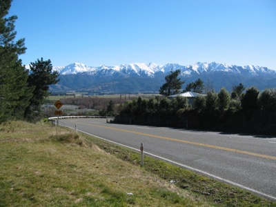 View of Southern Alps from Hanmer Springs
