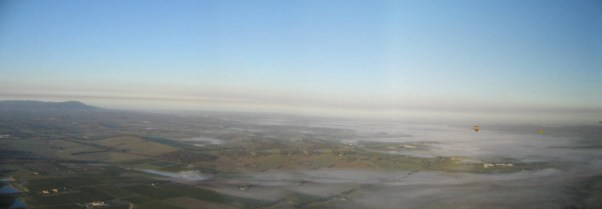 Sunrise over the Yarra Valley from 2,000 Feet