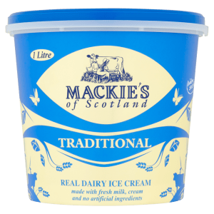 Cannich Stores : Mackies of Scotland Traditional Real Dairy Ice Cream 1 Litre