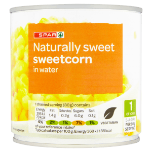 Cannich Stores : Spar Sweetcorn in Water