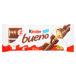 Kinder Bueno Milk Chocolate and Hazelnuts Single Bar 2 Finger