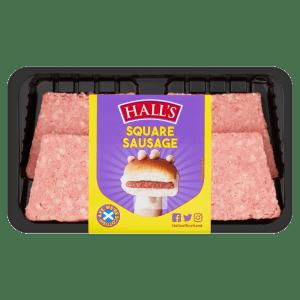 Cannich Stores : Halls Square Sausage 250g