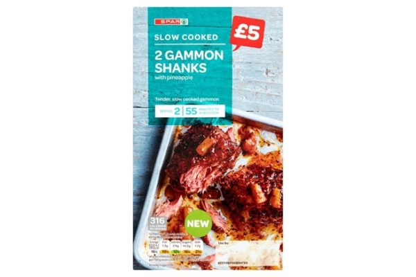 Spar Slow Cooked 2 Gammon Shanks with Pineapple 545g