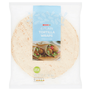 Spar 6 Plain Tortilla Wraps 420g