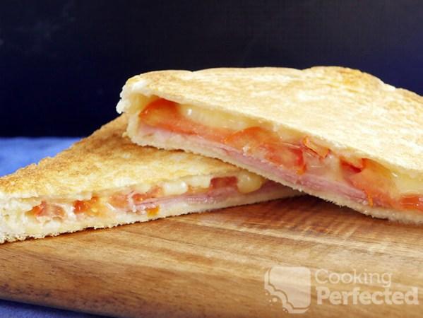 Grilled Ham , Cheese & Tomato Sandwich