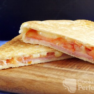 Grilled Ham , Cheese & Tomato Sandwich
