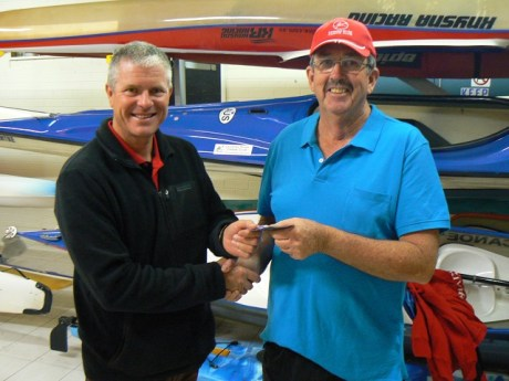 November 11th 2014John Horner presenting tonights winner David Griffiths with a movie voucher
