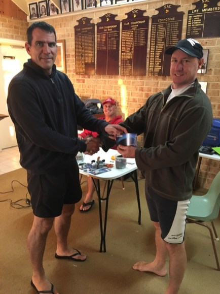 Tues 23rd May 2017 : Club Member Greg Macham presenting tonights winner Stuart Hyde with a movie voucher