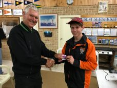 Tues 26th September 2017 : Tonight's photo shows club member Tom Green presenting Jerry with a movie voucher