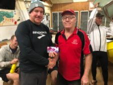 Tuesday 8th May 2018 : Tonights photo shows club member David Gardiner presenting Steve Mitchinson with a movie voucher