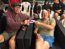 Tuesday 1st October 2019 : Tonight's photo shows club member Doug Hodson presenting tonight's winner Malcolm Goodall with a movie voucher.