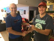 Tuesday 26th November 2019 : Tonight's photo shows club member Simon O'Sullivan presenting David Urquhart with the winners movie voucher.