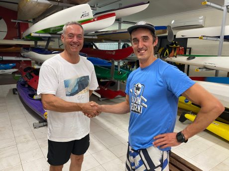 Tuesday 18th February 2020 : Tonight's photo shows club Committee member Luc Jacob presenting his son Matt Jacob with the winners movie voucher.