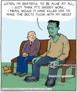 S Cartoon Of A Frankenstein That Killed A Dog