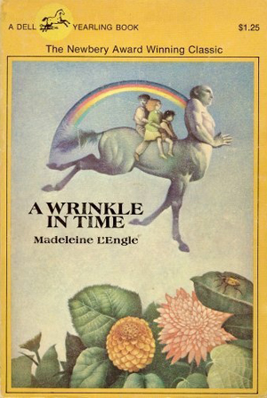 Image result for a wrinkle in time book cover