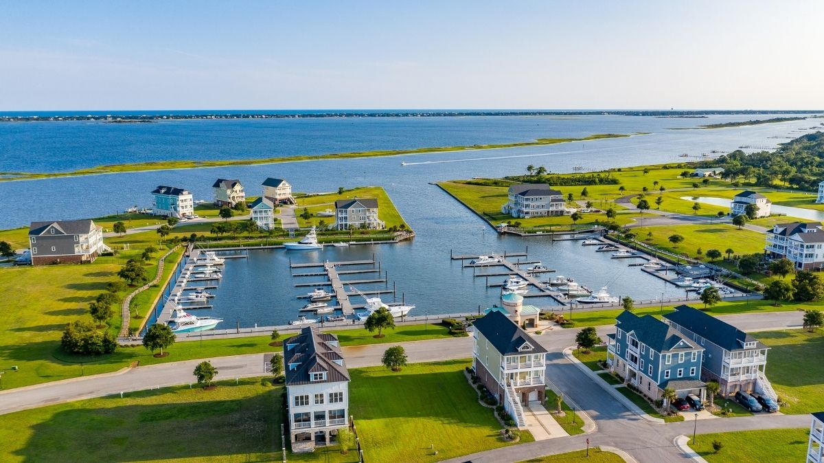 Aerial view of Cannonsgate Marina and ICW