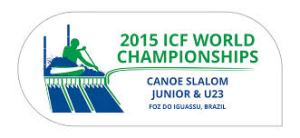 2015 ICF Junior and U23 Canoe Slalom World Championships