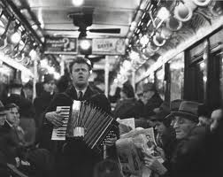 accordion player by Walker Evans