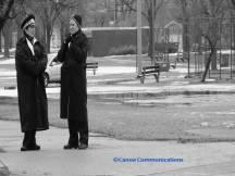 policewomen in black and white